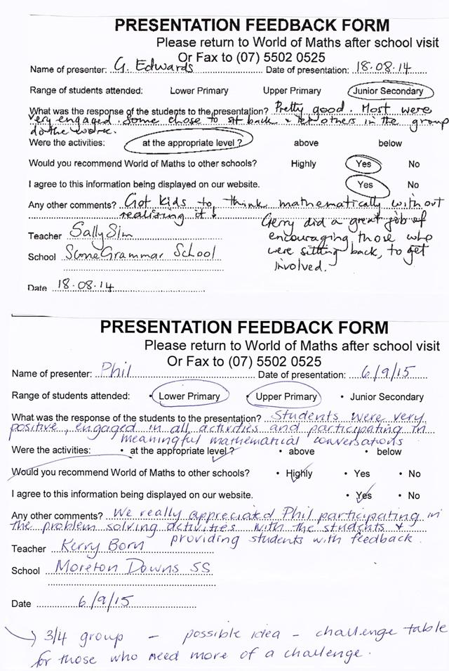 Feedback page 4